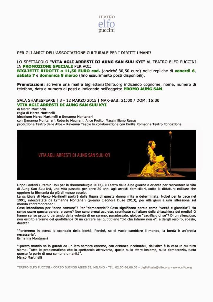 VITA AGLI ARRESTI DI AUNG SAN SUU KYI: una promozione