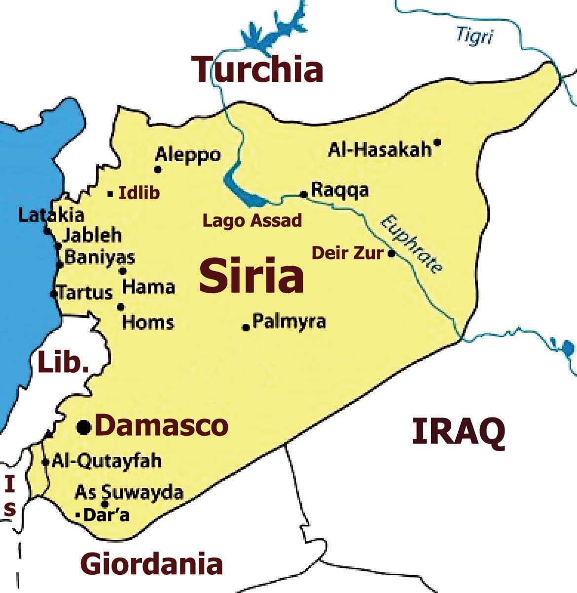 Cartina Africa E Siria.Siria Autonomia Contro La Guerra Per I Diritti Umani